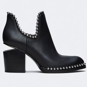 New ALEXANDER WANG Gabi Leather Ankle Boot